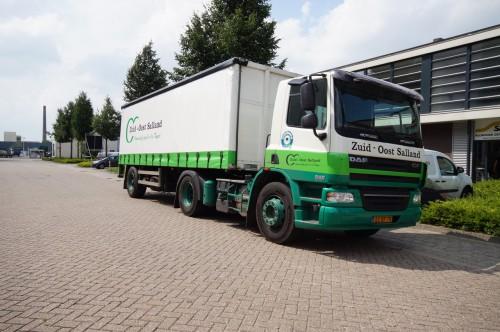 Nieuwe schuifzeilen voor vrachtwagen